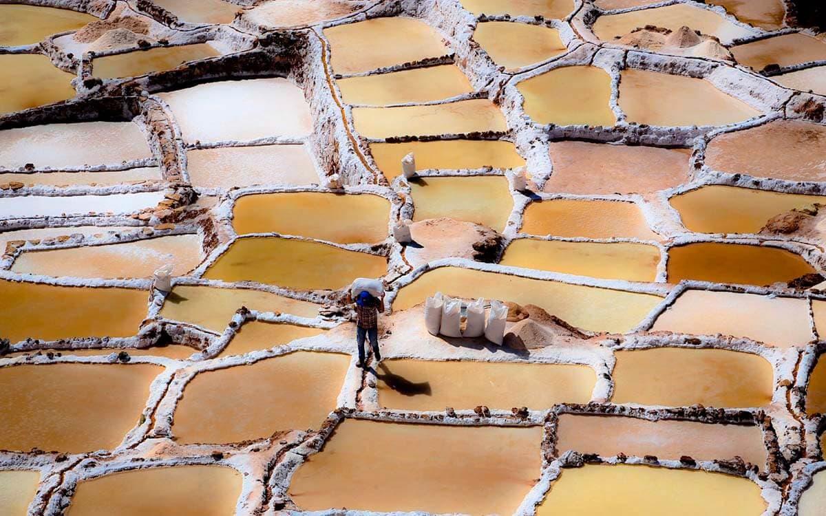 Extracción de sal - Maras