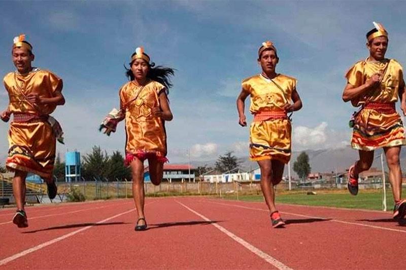 Representacion de chasquis incas