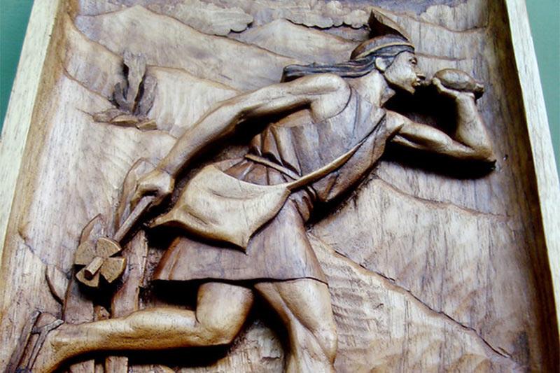 Representacion de un chasqui inca