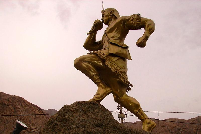 Estatua de un chasqui