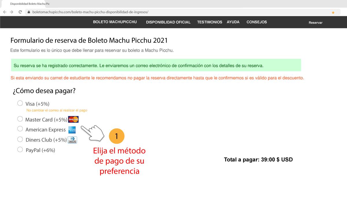 Compra boleto Machu Picchu