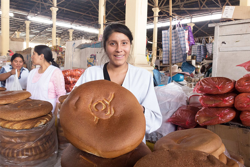 Vendedora de pan