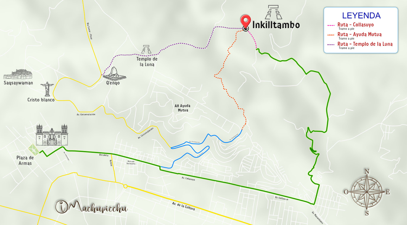 Mapa para llegar a Inkilltambo