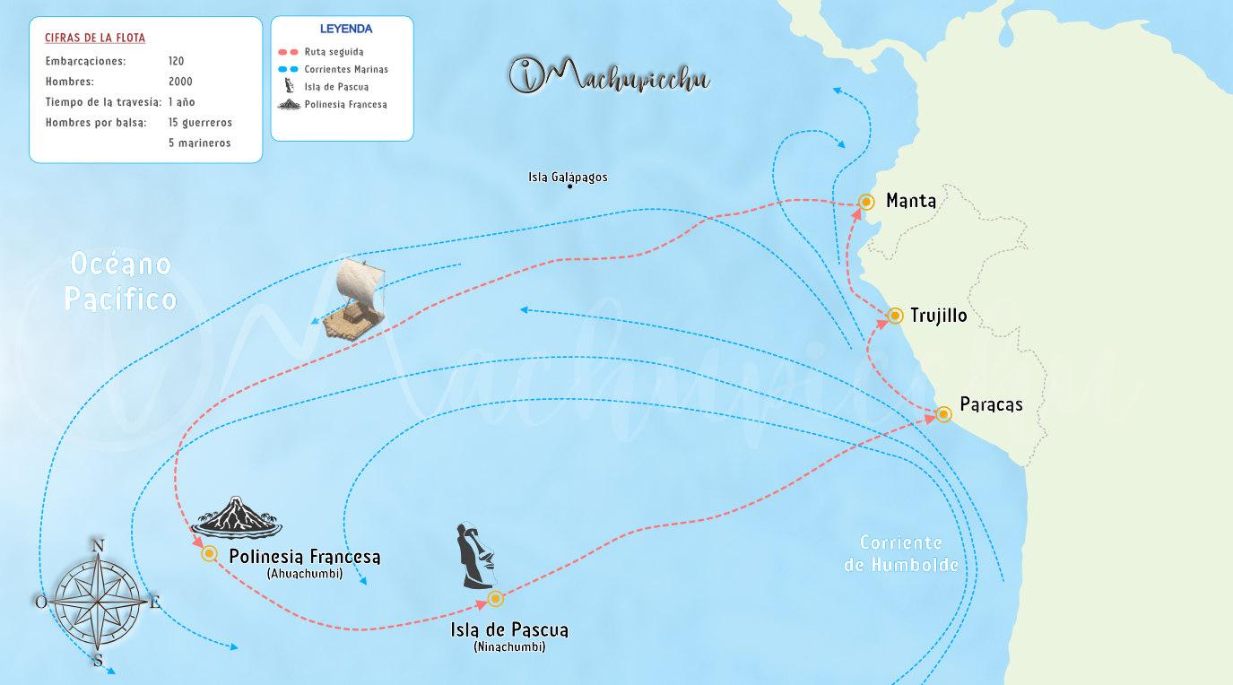Mapa polinesia Tupac Yupanqui