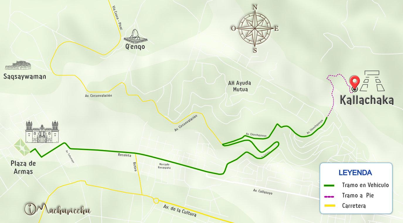 Mapa para llegar a Kallachaka