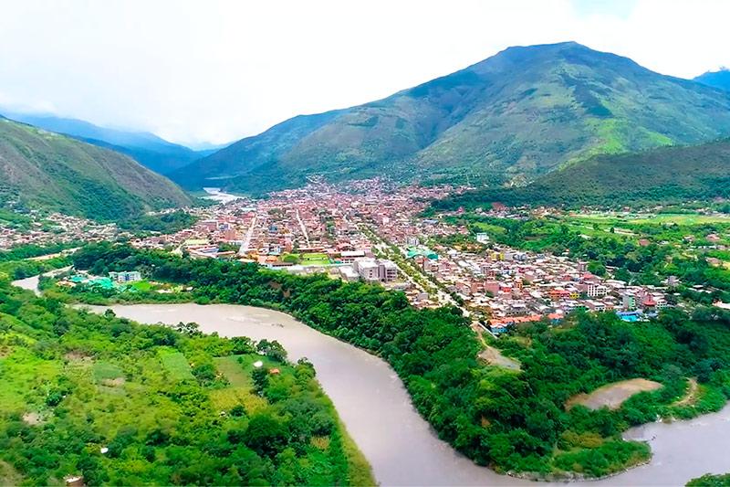 Vista de la ciudad de Quillabamba