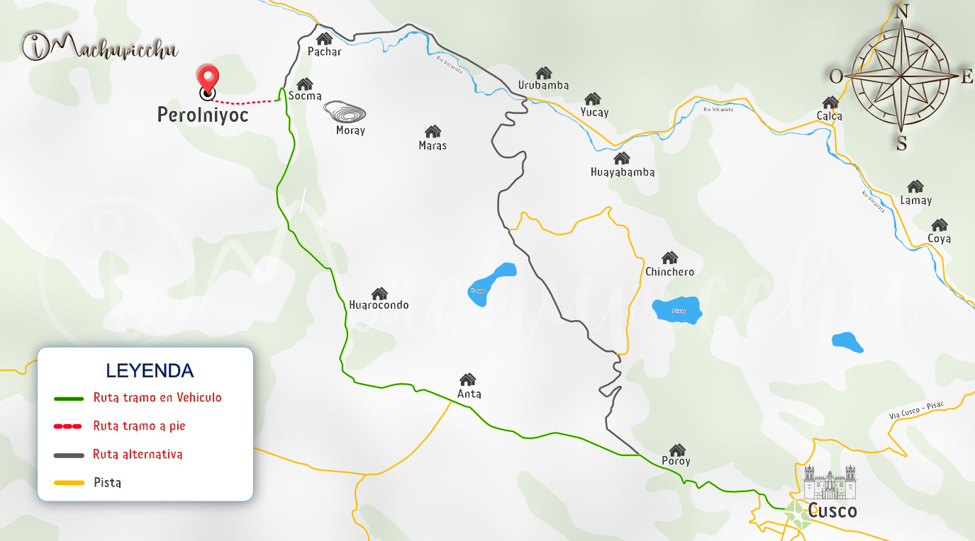 Mapa catarata de Perolniyoc
