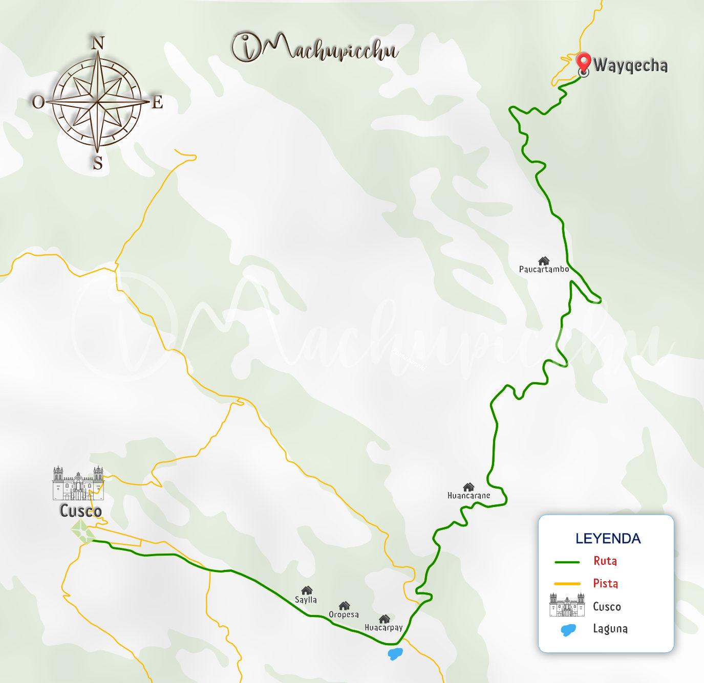 Mapa Wayqecha