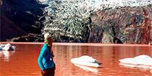 Laguna roja o laguna chocolate en Cusco