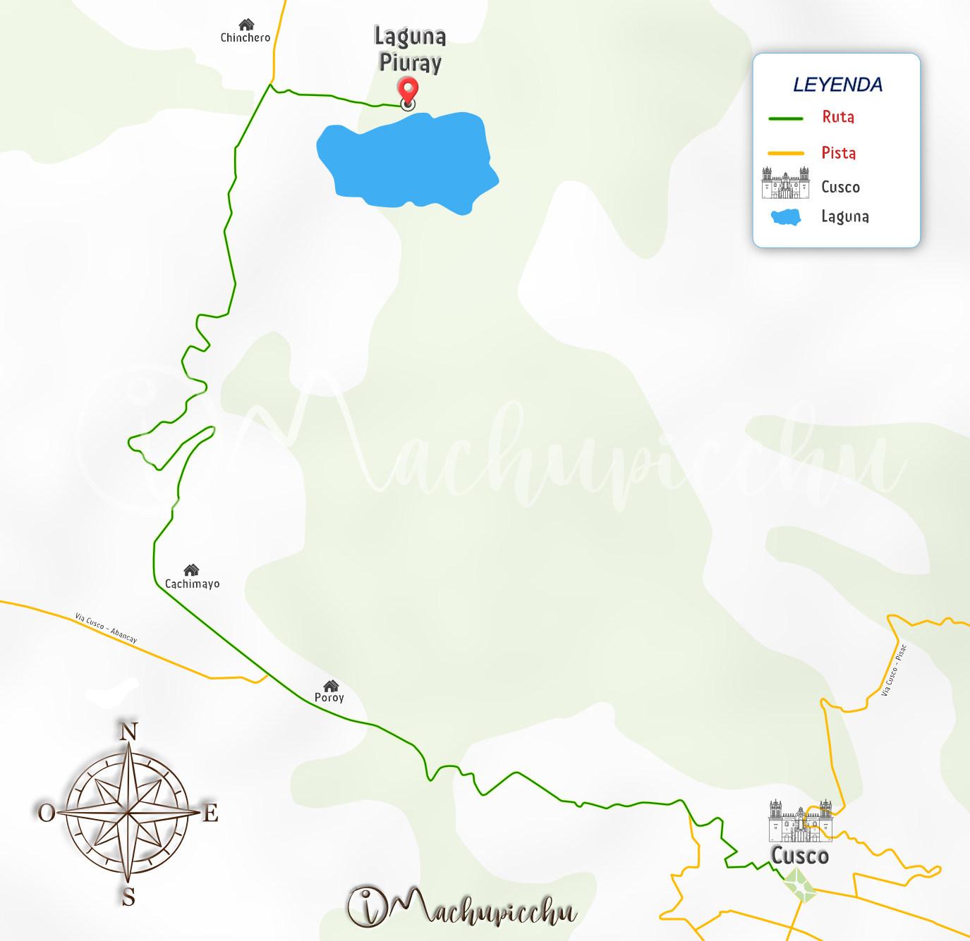 Mapa para chegar a Piuray