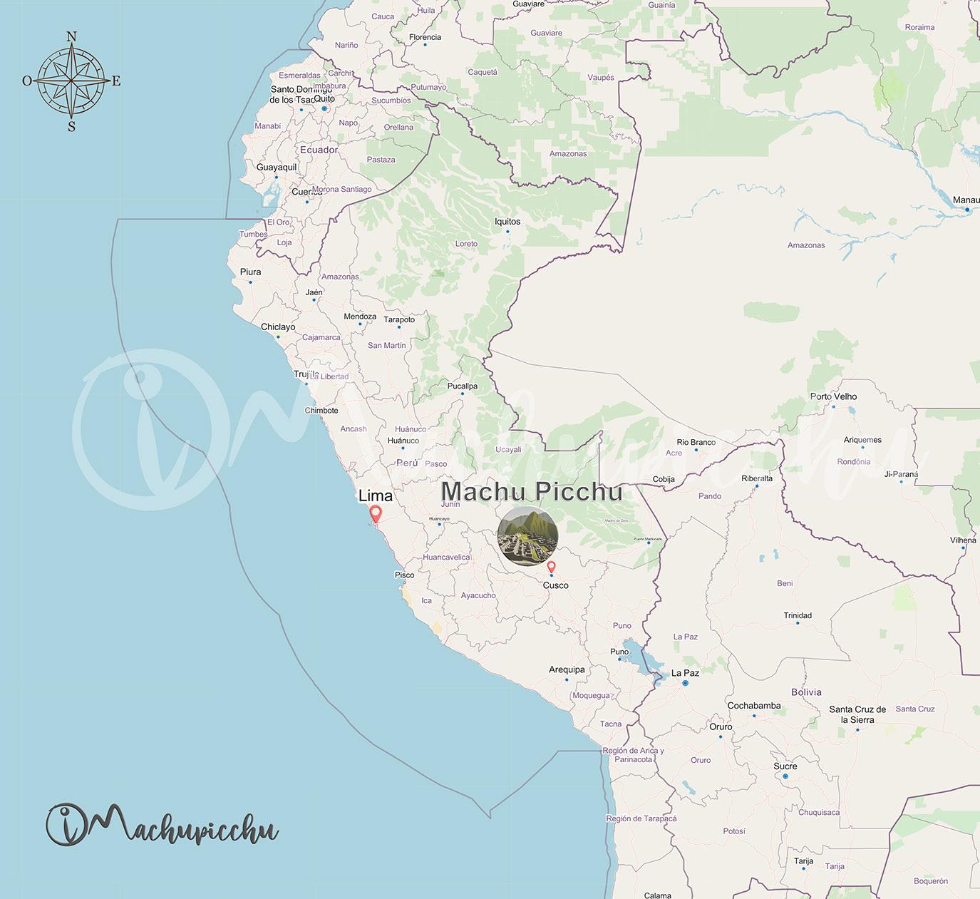Ubicación de Machu Picchu en Perú