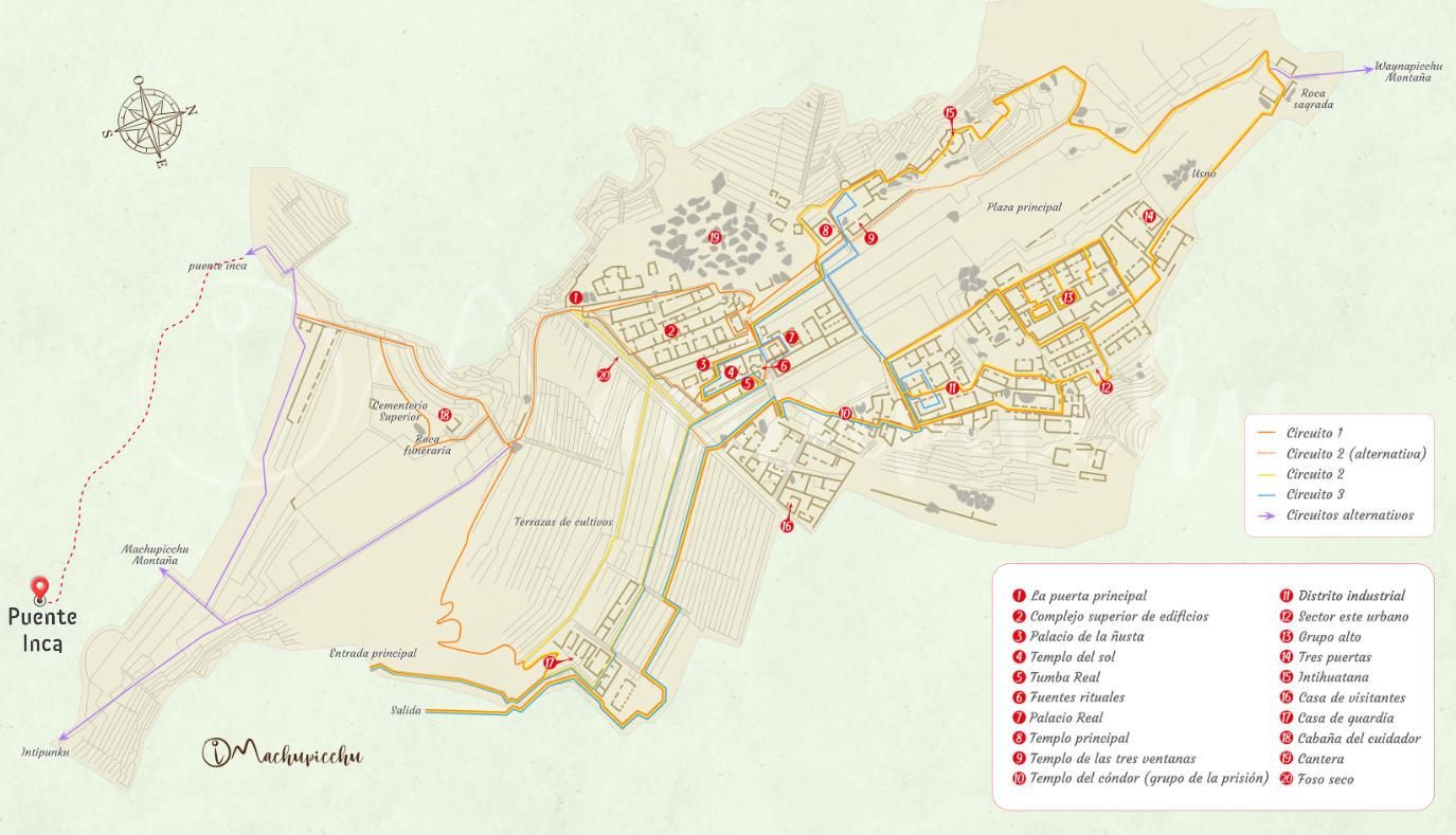 Mapa puente inca