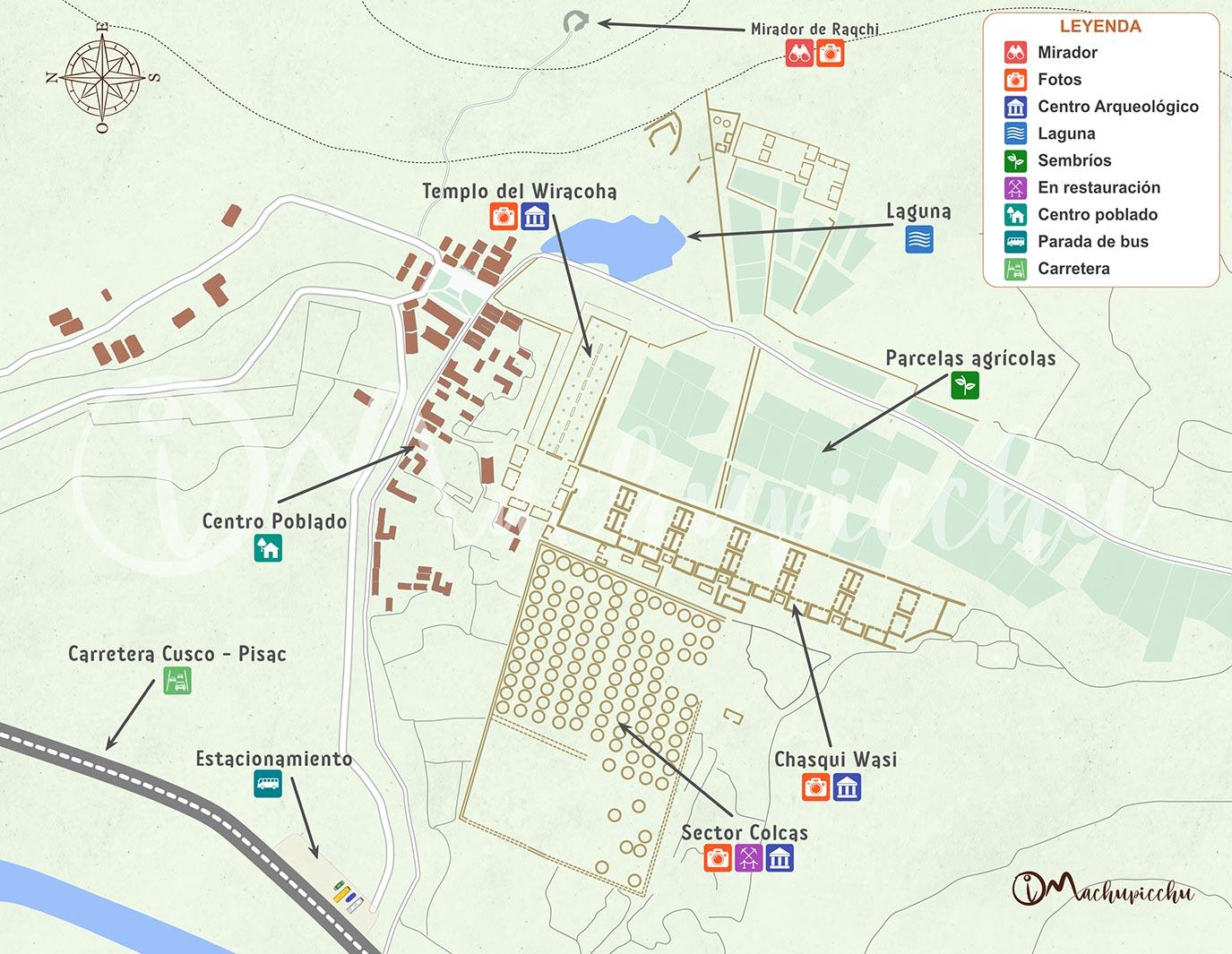 Mapa Raqchi